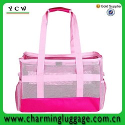 2015 China Supplier Custom printed promotional cheap dog carrier bags mesh