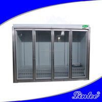 Lintee C-store 4 glass doors 0 to 10 degree drink refrigerated display showcase LTBB04215z