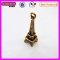 Mini de oro de metal de la torre eiffel #14232 colgante