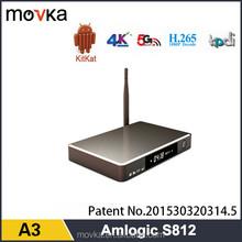 New Aluminum Casing Amlogic S812 quad core Android 5.1 kitkat S812 TV BOX 2GB ram 8GB rom KODI full loaded TV BOX