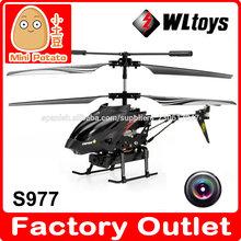 WL S977 Micro Helicóptero con cámara se puede grabar video y tomar fotos 3.5 Canales Juguete de control remoto