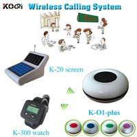Most Popular Desktop Receiver Restaurant Charger Wireless Service Waiter Remote Call Bell System