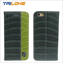 flip leather cell phone case python-skin phone case for iPhone 6G, for iphone 6 plus