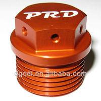 custom made color anodized aluminum oil drain plug