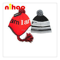 Fashion Design Ear Flap Winter Warm Knitted Hat