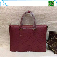 Hot selling real ostrich leather briefcase bag for men
