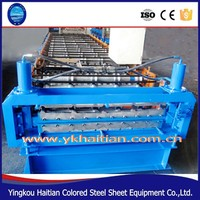 Corrugated Iron Roofing Sheet Double Layer Roll Forming Making Machine Made in China