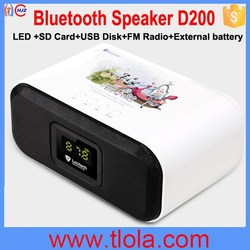 Ibox D200 Super Bass Bluetooth MP3 Speaker Support U-Disk SD Card AUX
