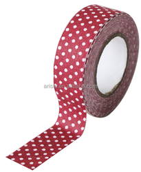 21298 Red, White Dot, Fabric Tape