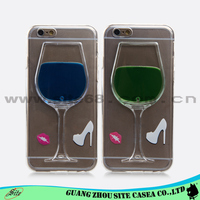 New wine glass design cellular cell phone case 3D mobile cover for iphone 5G 6G 6 Plus