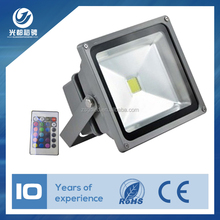 CE RoHS approved 10w/20w/30w/50w rgb led floodlight
