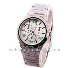 One tone chronograph stainless steel big watches for men