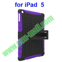 PC + Silicon Shockproof Case for iPad 5 With Holder