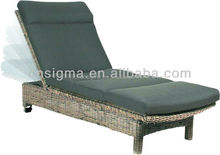 2015 Hot sale outdoor cheap garden outdoor rattan day bed