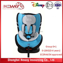 comfortable baby car seat 9-36KG with ECER 44/04 approved