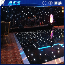 ACS 18*18ft size on promotion Acrylic surface RGB SMD colourful LED dance floor with aluminum edge for night club