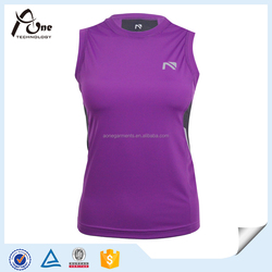 Quick Dry Wicking Fabric For Compression Fashion Sportswear Dark Purple Dry Fit Custom Tank Top