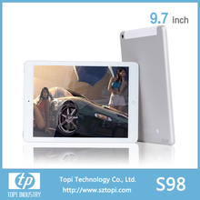 High Definition 1024 x 768 IPS Screen 3G Tablet PC 9.7 inch with Android 4.4 big batter of 6000 mAh.