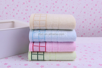 Grid towels, organic bamboo cotton, super quality Grade A hand towel