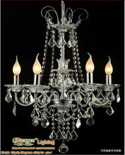 Iron light fixture chandelier with crystal in dinning room MD8422-L5
