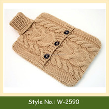 W-2590 Custom Handmade Crochet Knitted Hot Water Bottle Cover