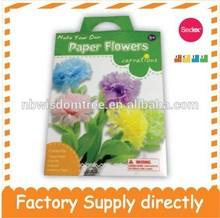 Diy flores de papel claveles para el día de la madre