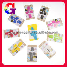New shape multi colours soft silicone snap holder for mobile phone