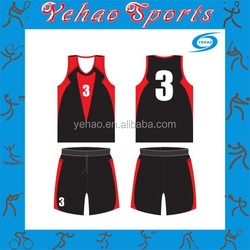 Custom made basketball uniform design black color for high school