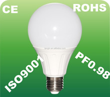 PF0.98 quality lamp style energy saving e27 7w led lighting bulb