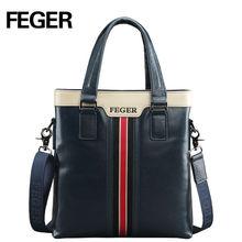 Genuine Leather Handbag Men's Briefcase Messenger Bag