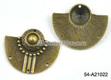 30*37mm bronze tone jewelry alloy cap connector