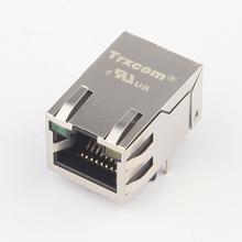 6605833-6 Free sample 1.3 inch poe gigabit cat5e rj45 connectors