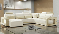 Modern U shape design best quality italy leather sofa 2015