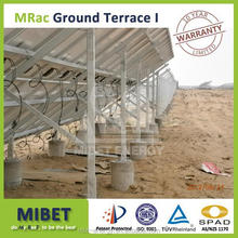 Ground PV Support Structure on Ground Screw or Concrete Base for large scale solar Pv projects -- MRac Ground Terrace 1