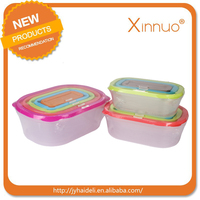PP plastic crisper with lid wholesale plastic storage food container cheap price