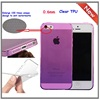 CHEAP TPU Frosted back Clear side GOOD Quality cheap TPU case for iphone 5s case