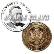 Ulysses S. Grant 1869-1877 White&Black Printed Custom Challenge Coin/ Custom Coin