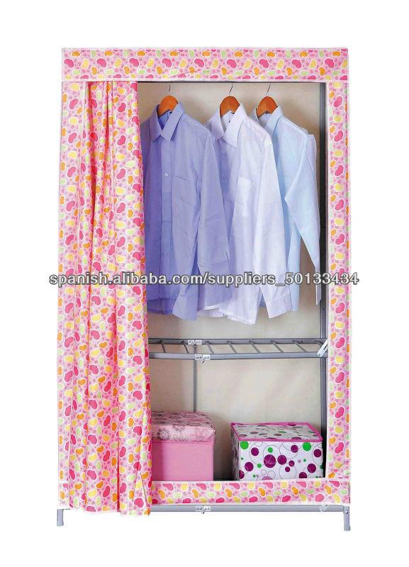 Ropero puerta corrediza armario desmontable de tela dem s - Armario ropero tela ...