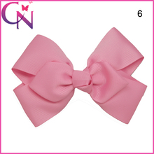 Wholesale Double Layer Ribbon Hair Bows, 5 inch Diamond Shaped Bowknot Beautiful Hair Bow for Baby