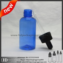 HD 20mm childproof cap glass dropper pipette with rubber 30ml plastic round plastic bottle