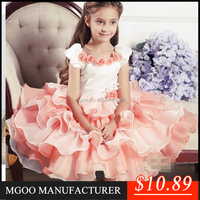 MGOO New Arrival High Quality Girls Flowers Dress Children Party Dress For Girl of 11 Years Old 14