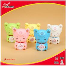 Sheep design plastic saving money box/coin bank box for kids
