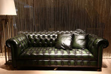 Popular Classic Chesterfield Leather Sofa