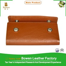 Alibaba handmade leather cowhide key folder & leather key holder & key wallets