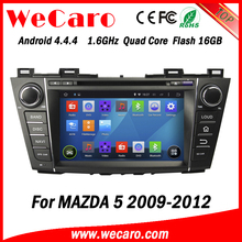 Wecaro WC-MZ8005 android 4.4.4 car dvd player for mazda 5 2009 2010 2011 2012 car radio 3G wifi playstore