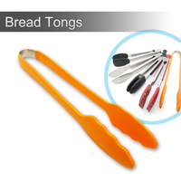 Silicone spatula rubber meat food tong bbq scissor tongs