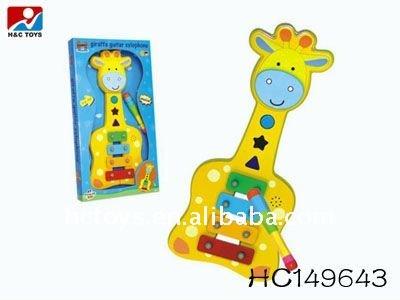 Musical dos desenhos animados brinquedo xilofone de madeira HC149643