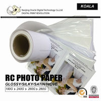 190g inkjet photo RC glossy cheap photo paper 24''*30m/roll factory supplier