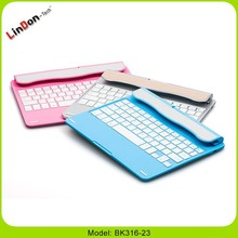 New arrival high quality for iPad Air2 keyboard stand,bluetooth wireless new product launch in china for apple keyboard,4 colors