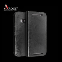 Wallet opening folio stand case leather cell phone case for htc m9